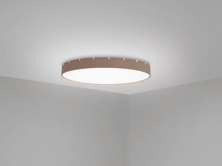 Castle C60 Plafón LED 24,8W Madera roble natural