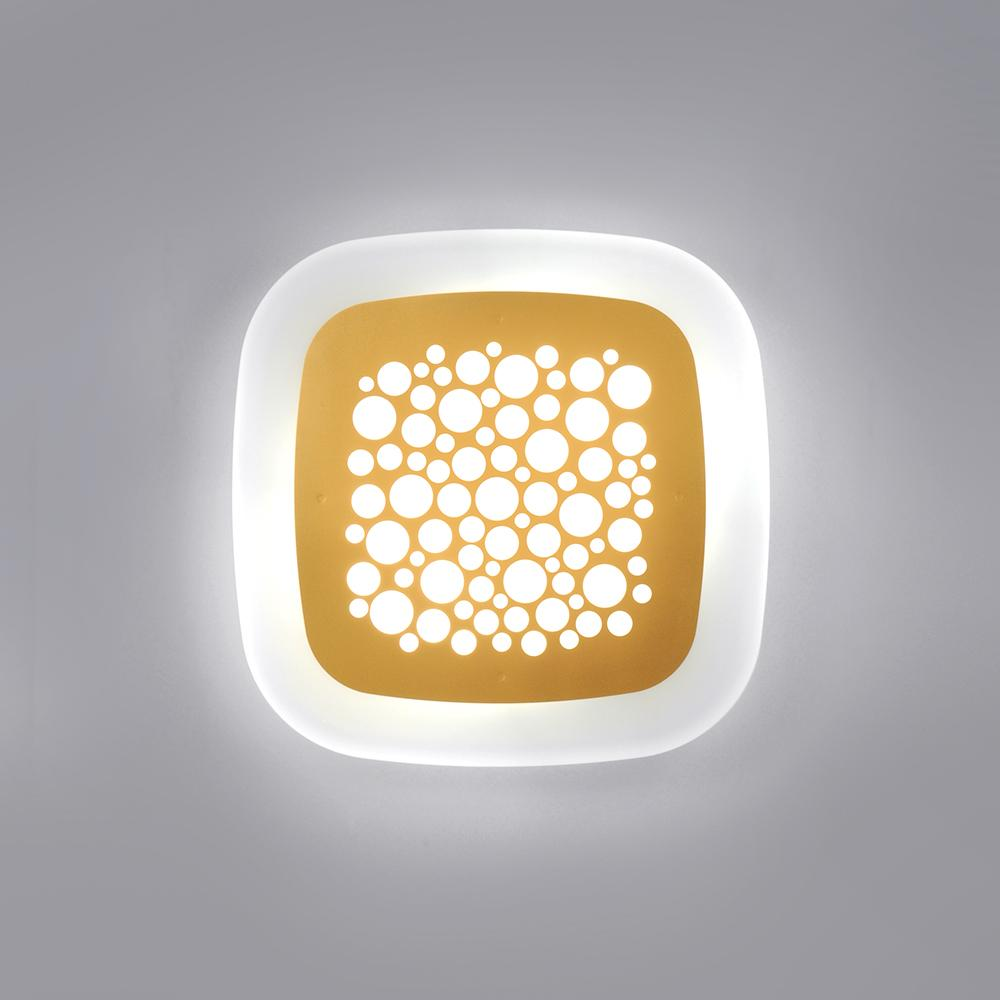 Pop Plafón LED 2xE27 12W Dorado