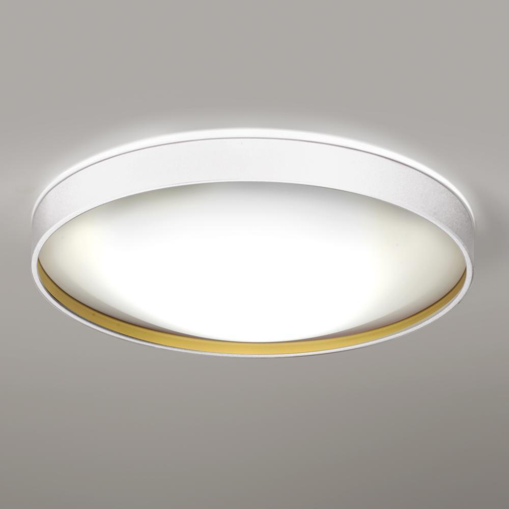 Alina Plafón Ø57 LED E27 3x12W Lacado blanco interior lacado dorado