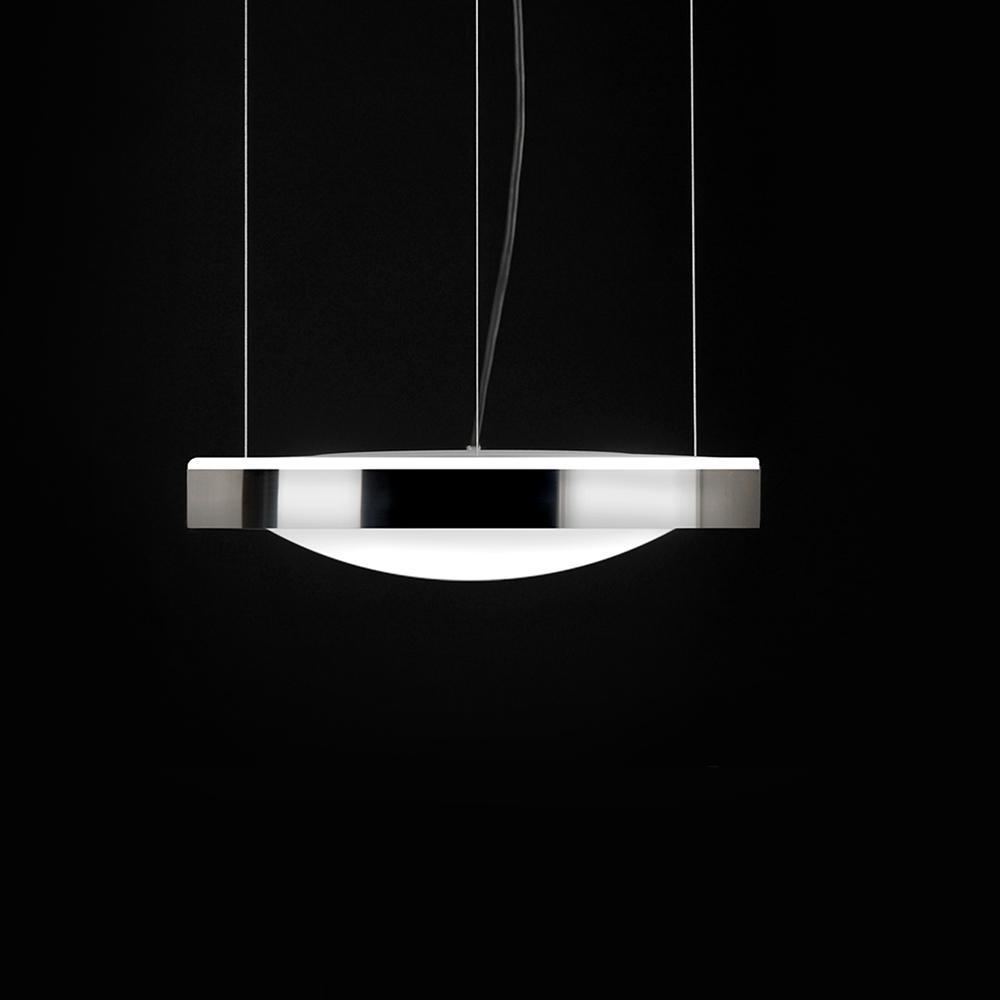 Alina Lámpara colgante LED E27 3x12W Lacado blanco interior lacado dorado