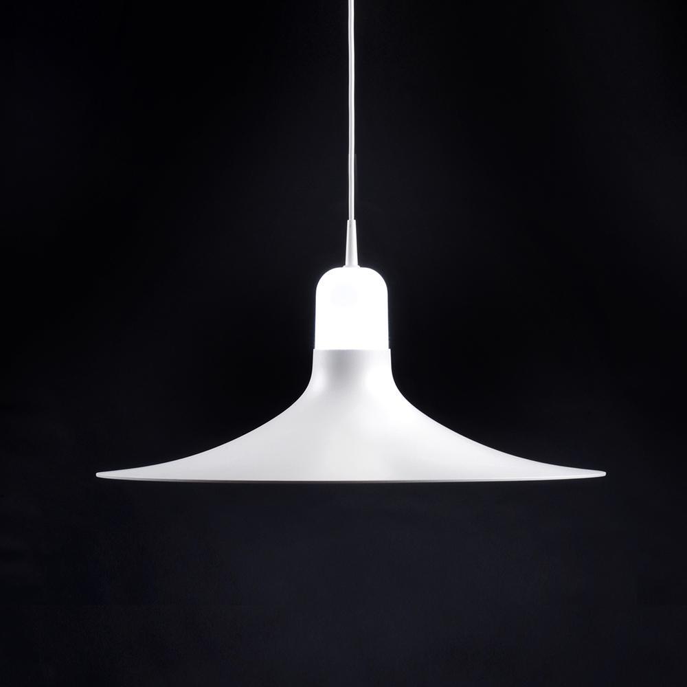 Laia Lámpara colgante 1xE27 LED 12W Blanco-Blanco