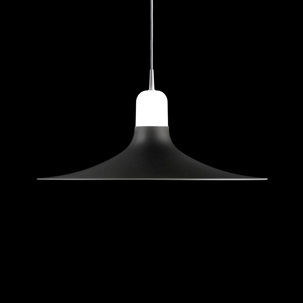 Laia Lámpara colgante 1xE27 LED 12W Blanco y Lacado gris