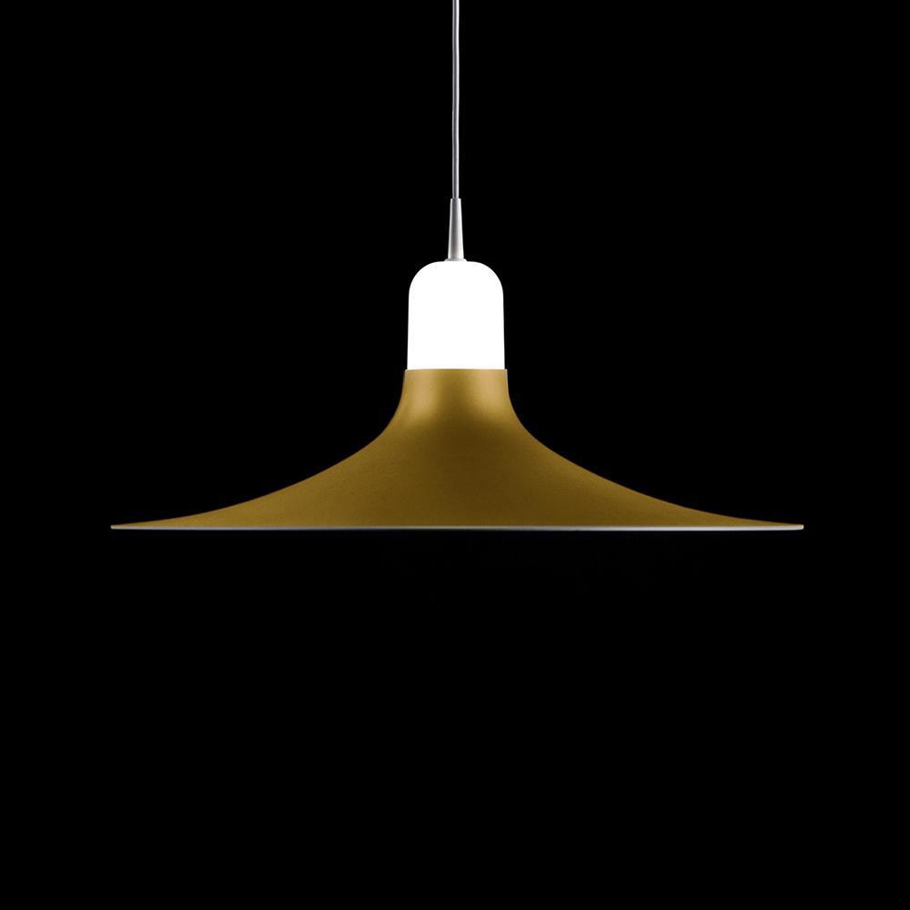 Laia Lámpara colgante 1xE27 LED 12W Blanco y Lacado dorado