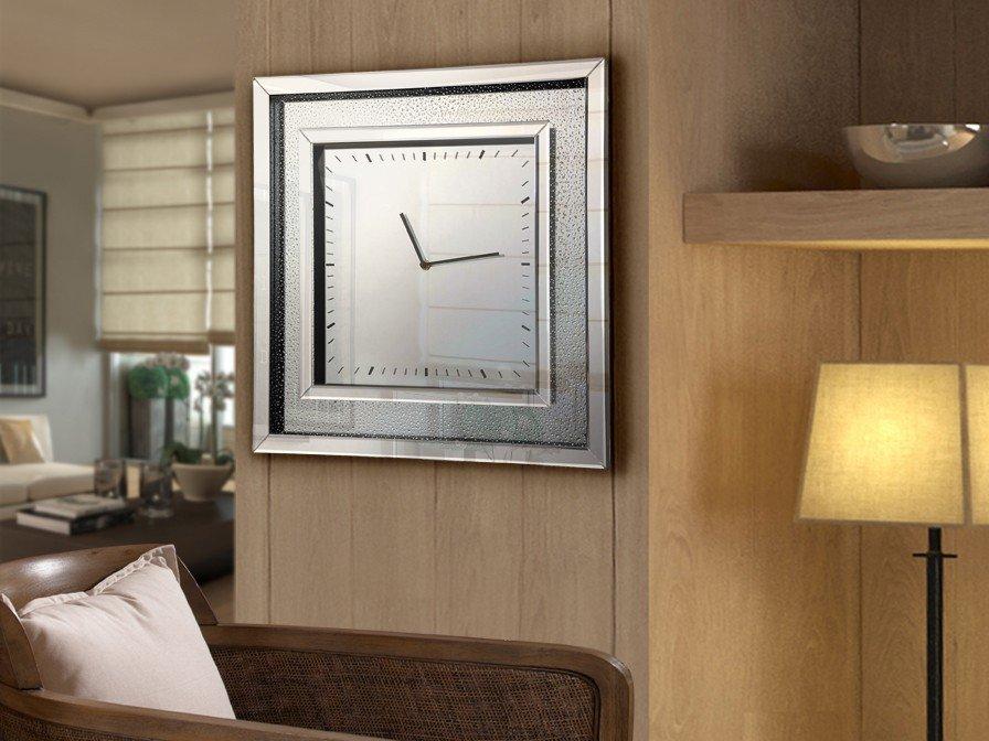 Lluvia Reloj Cuadrado 50x50