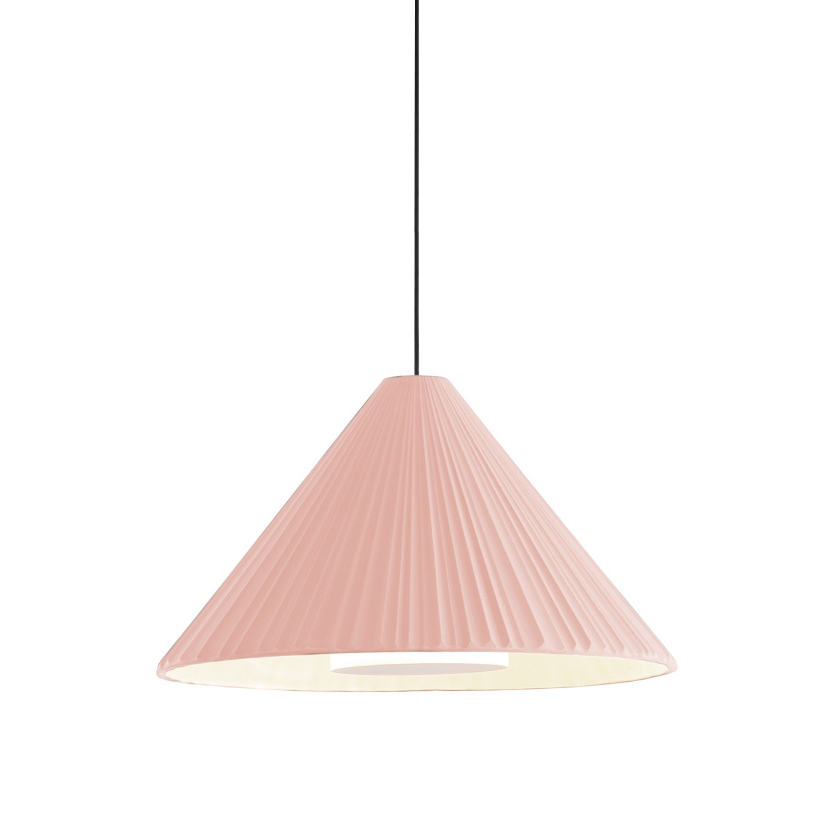 Pu-Ehr Lámpara colgante 21 LED 4W Rosa -Blanco