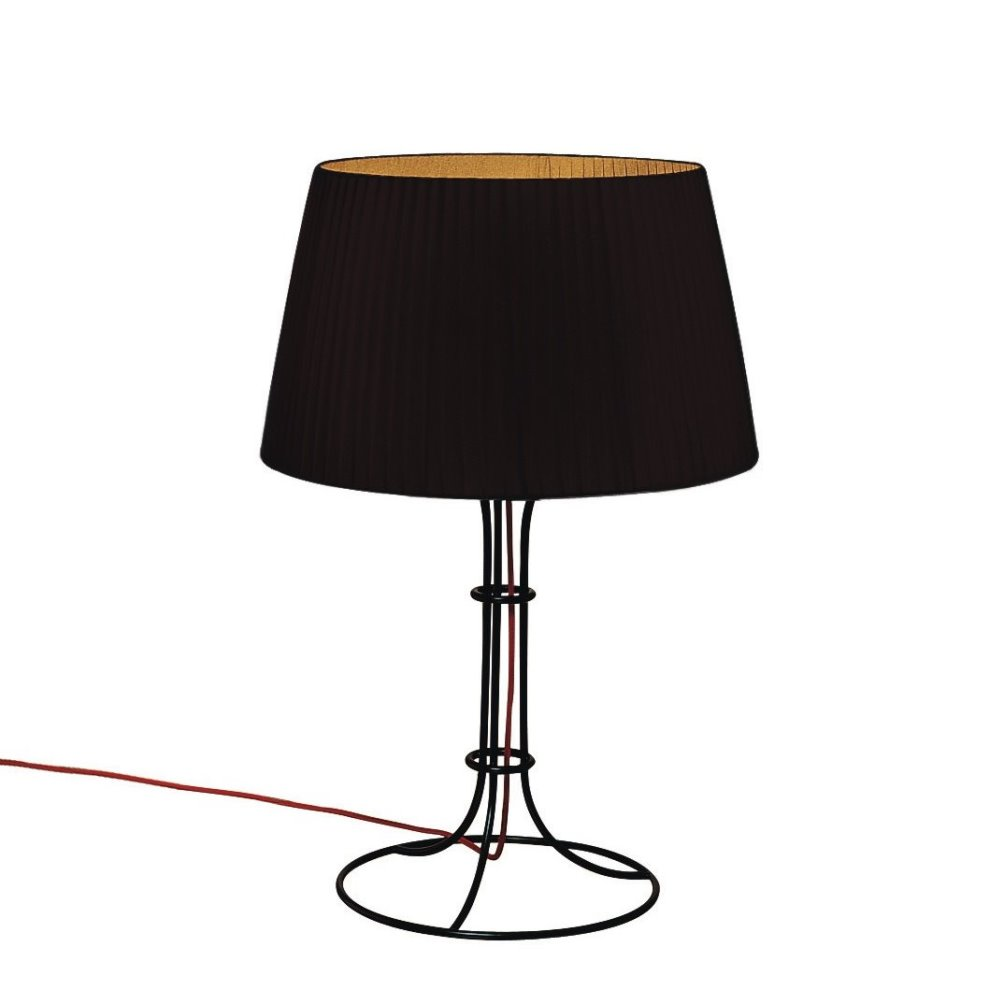 Naomi Table Lamp Medium Ø25 E14 60W cable Black lampshade black