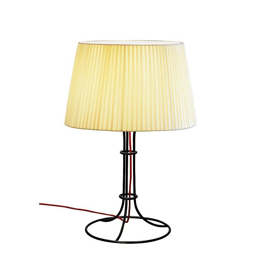 Naomi Table Lamp Medium Ø25 E14 60W cable net lampshade Beige