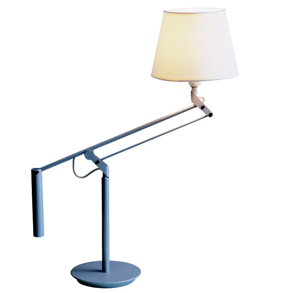 Galilea Table Lamp E27 100W plomo met white lampshade