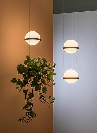 Palma Lámpara Colgante 2 × Led- Lacado blanco mate