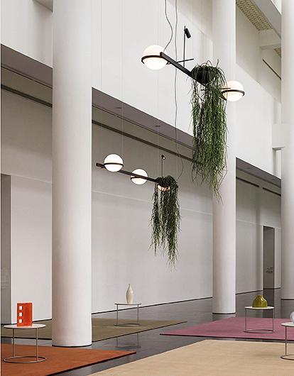 Palma Lámpara Colgante 2 × Led - Lacado grafito mate