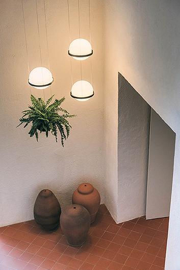 Palma Lámpara Colgante 1 x LED- Lacado blanco mate