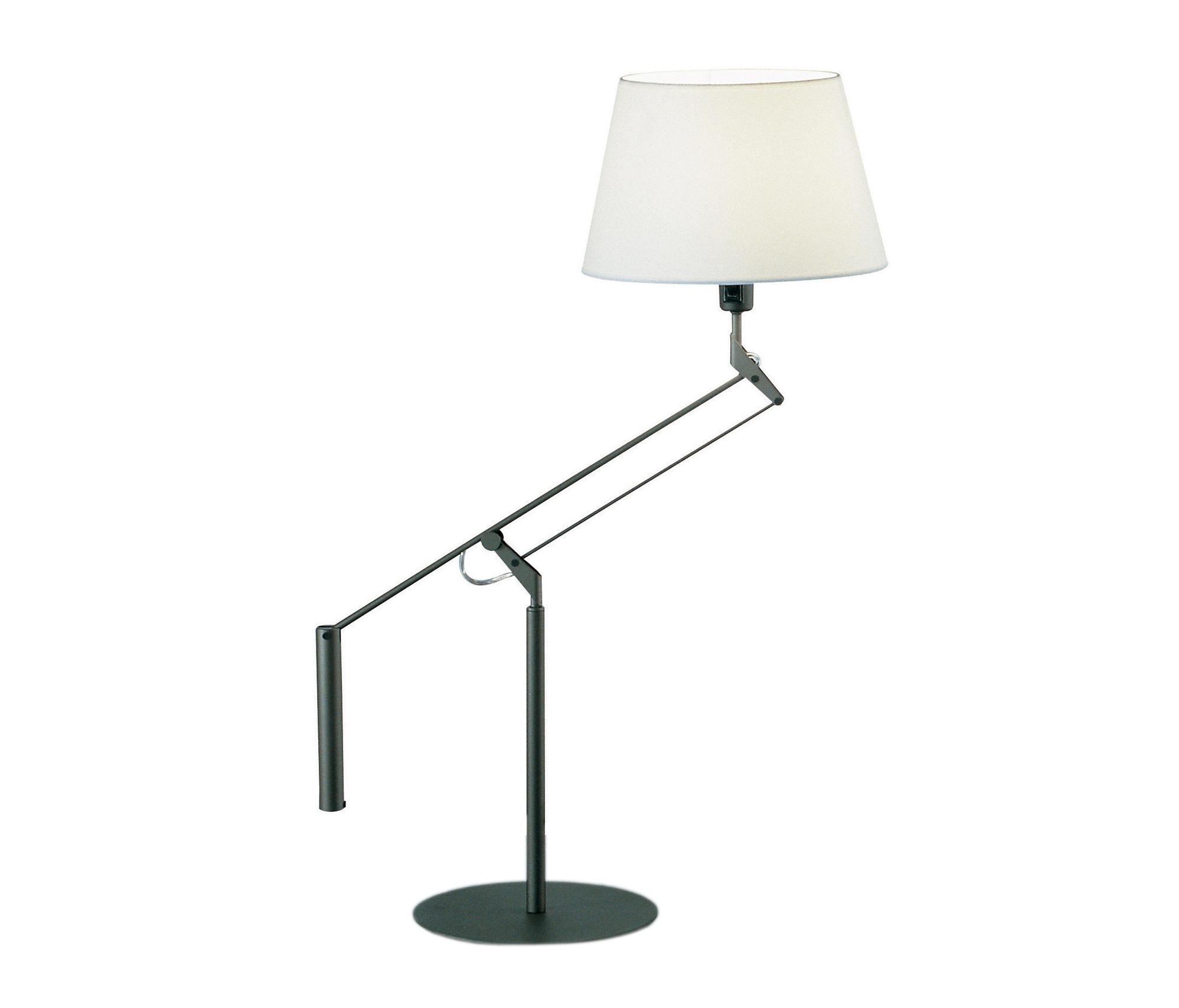 Galilea mini Table Lamp E14 60W plomo met lampshade Beige