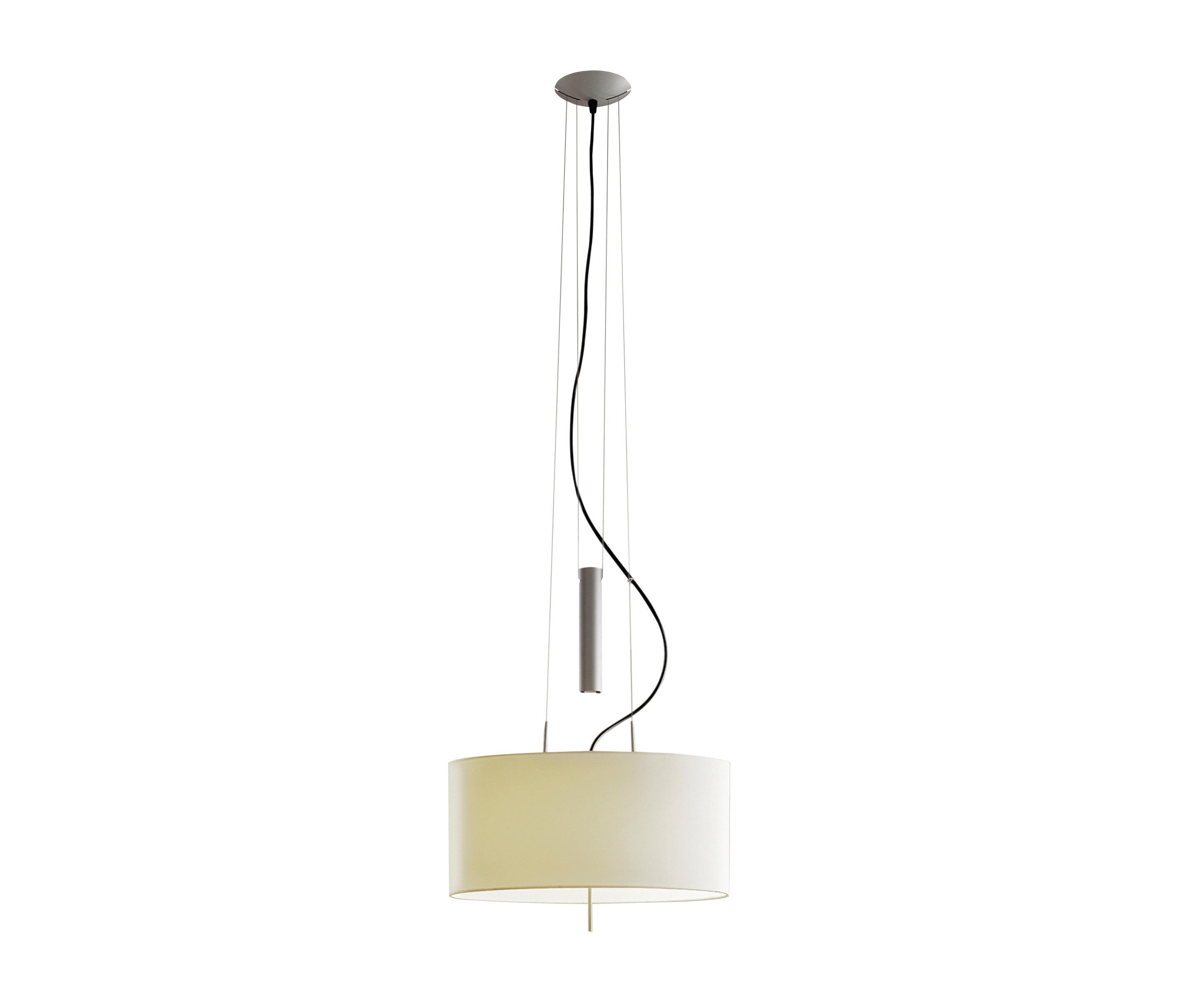 Funi Pendant Lamp 60cm E27 2x100W metallic lead white lampshade