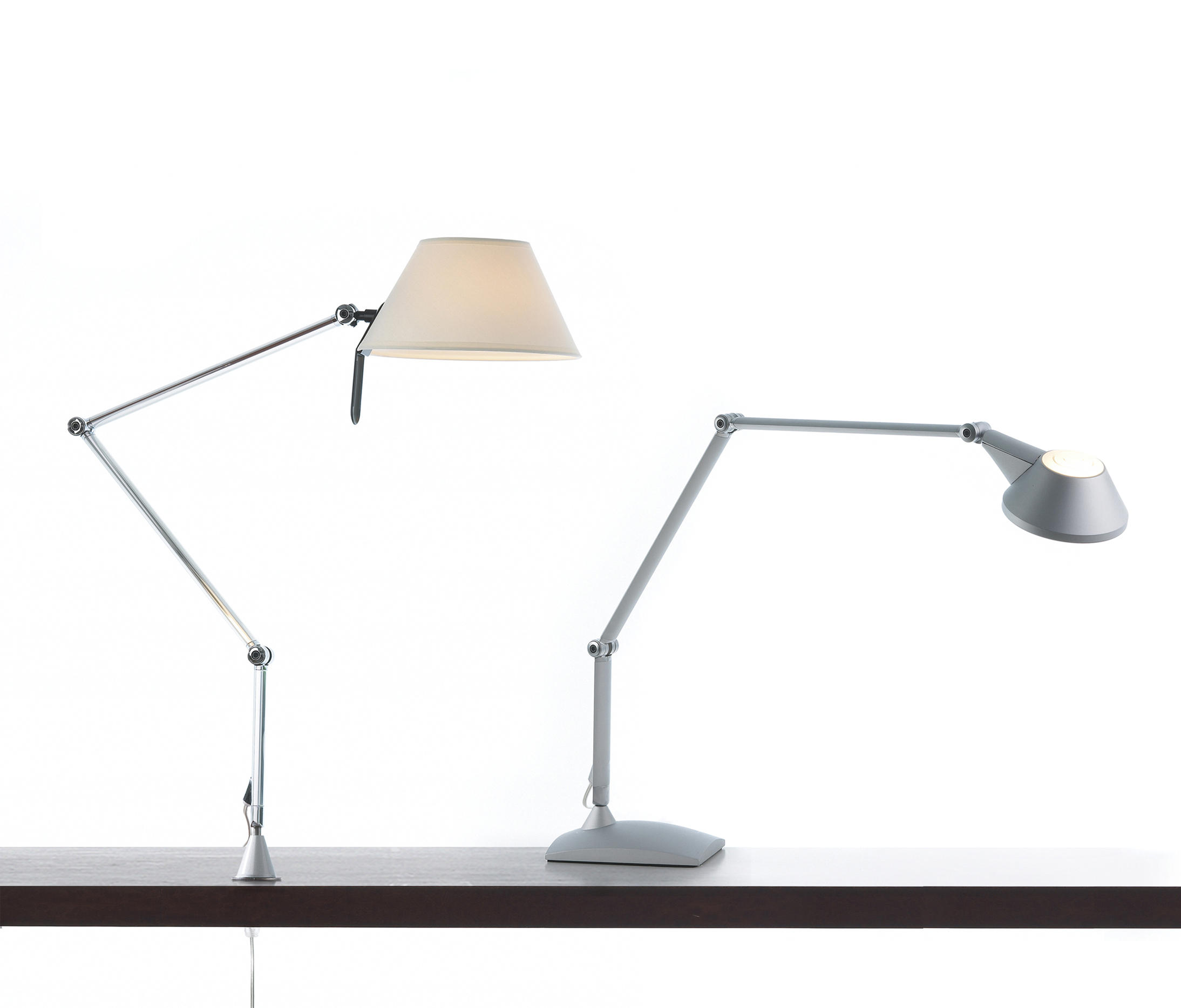 Petite 12 Balanced-arm lamp Structure without base E27 1x57w Aluminium Mate
