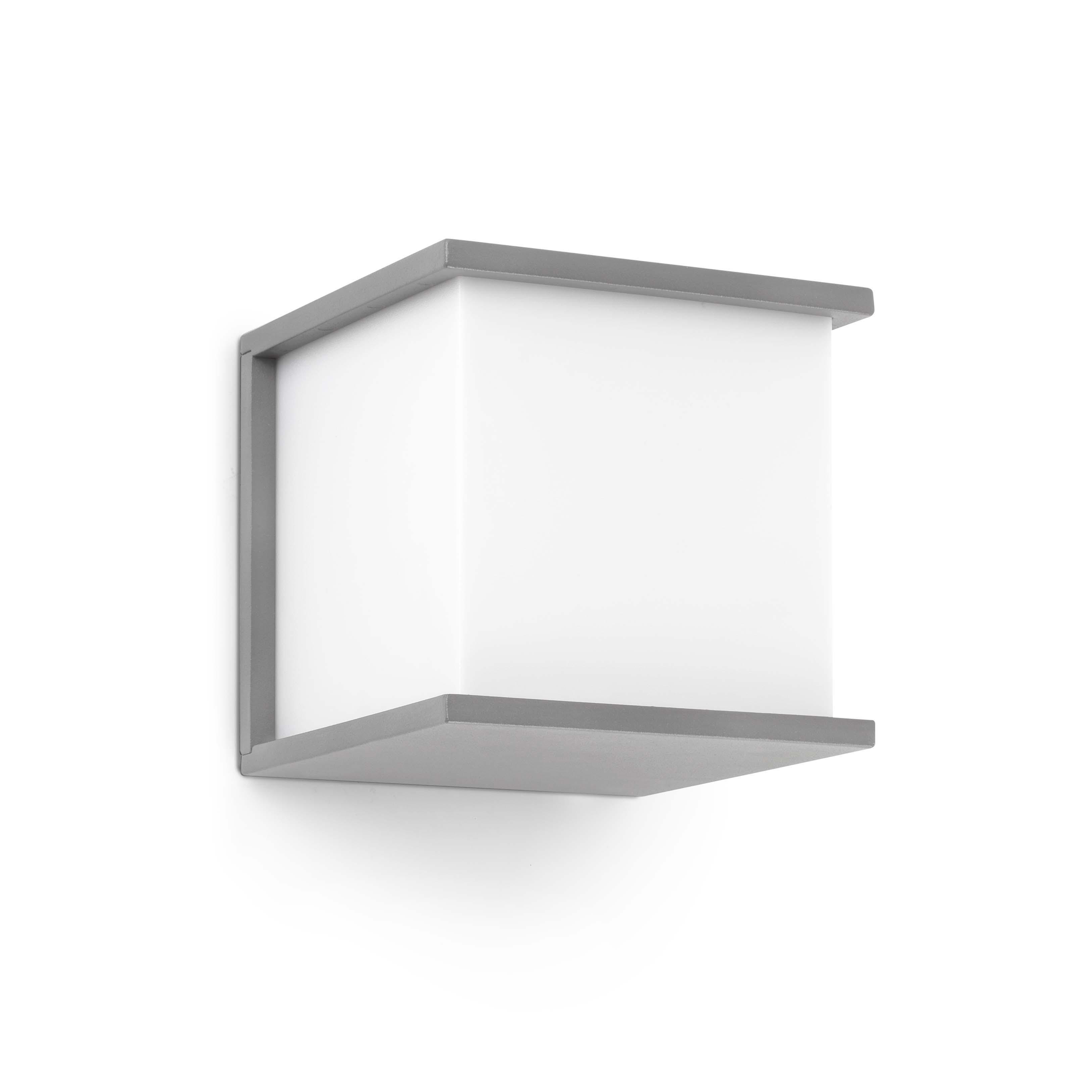Kubick Aplique Exterior 1xE27 60w Gris claro