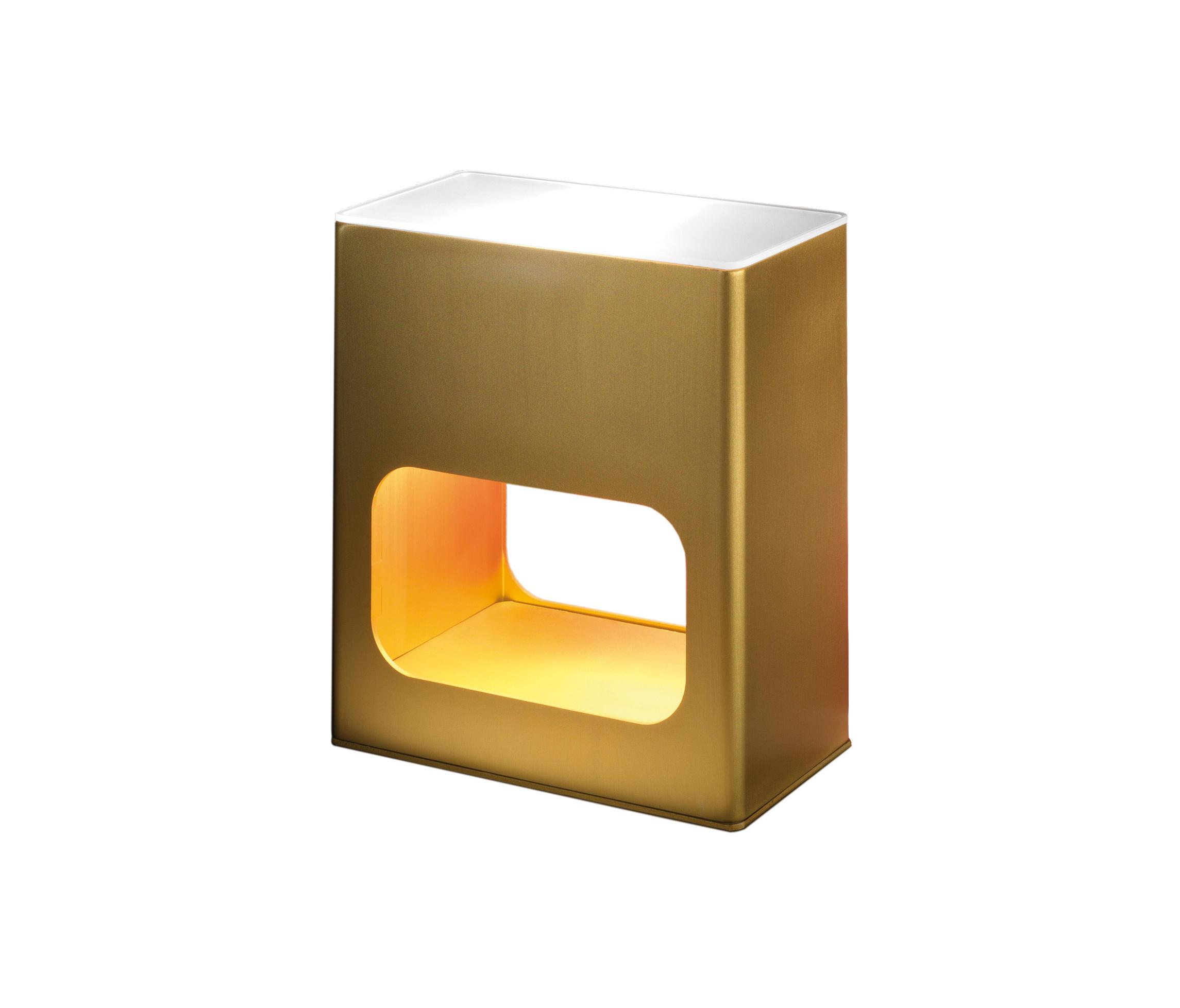 Note Table Lamp Halogen 60w Aluminium Golden
