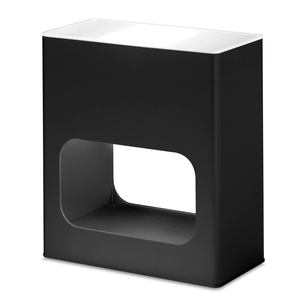 Note Table Lamp Halogen 60w Aluminium Black