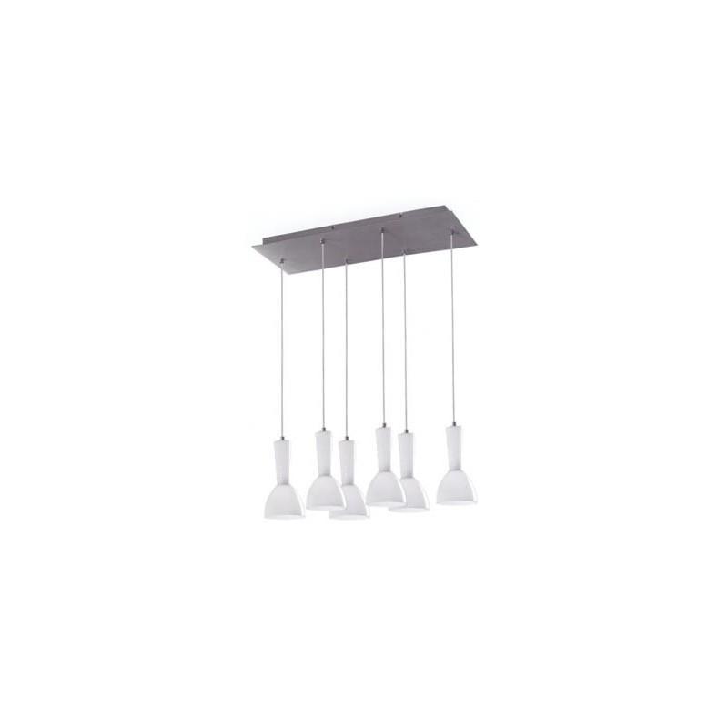 Kone Pendant Lamp 6 lampshades en paralelo 6xE14/40w White