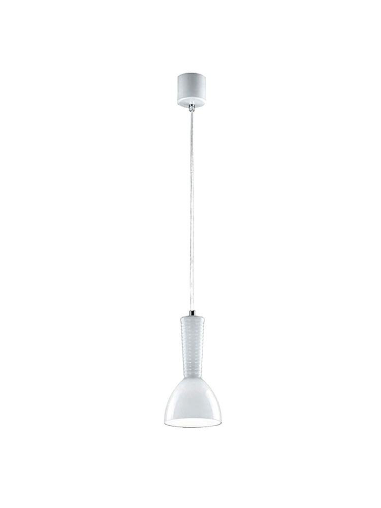 Kone Pendant Lamp E27/100w Glass white