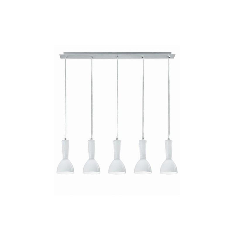 Kone Pendant Lamp 5 lampshades 5xE14/40w White