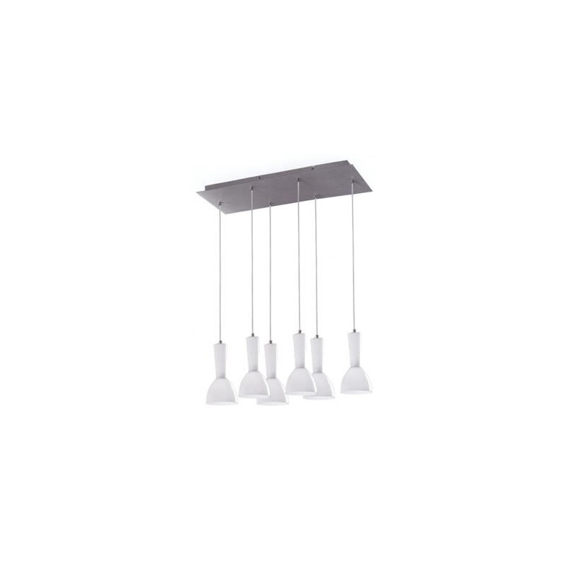 Kone Pendant Lamp 6 lampshades in line 6xE14/40w White