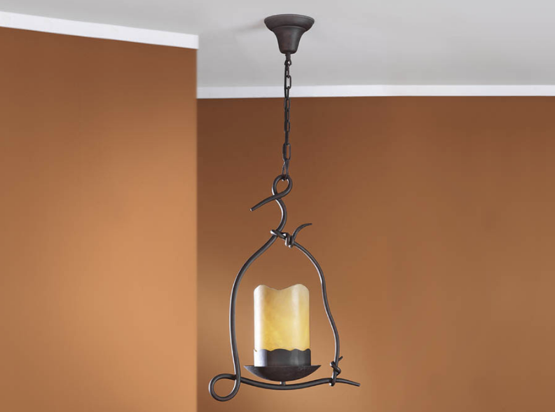 Candela Pendant Lamp E27 LED 10W Brown Oxide