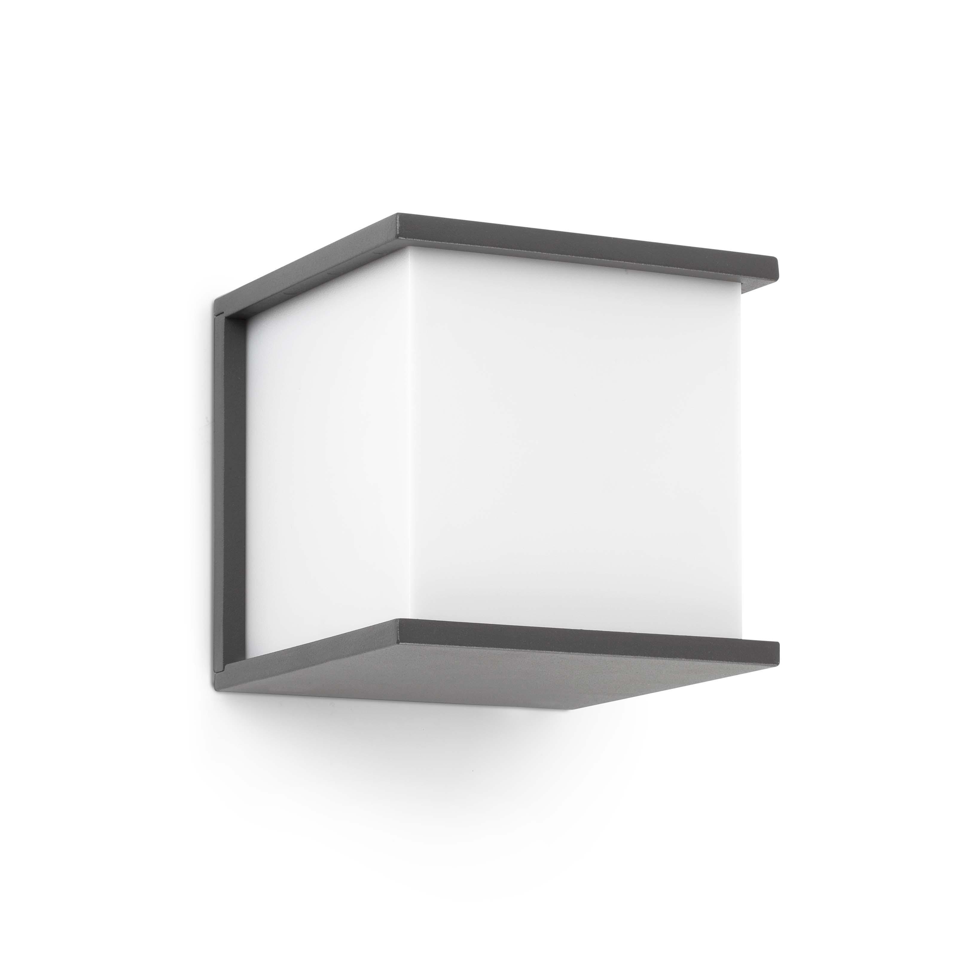 Kubick Wall Lamp Outdoor 1xE27 60w Grey oscuro