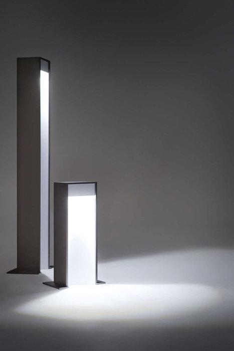 Aula Lámpara de pie Exterior 26cm LED 6.2W Gris marrón-Blanco