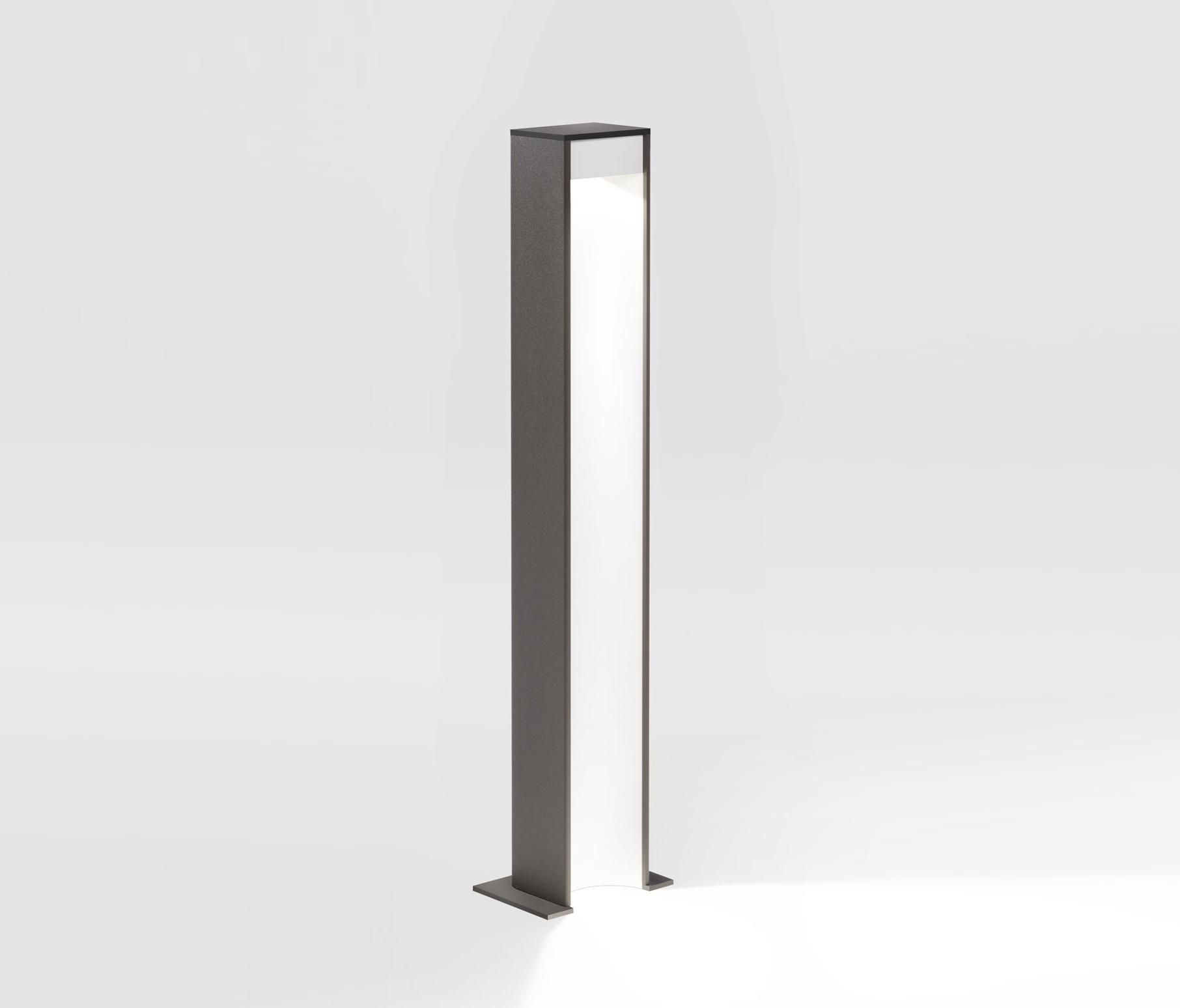 Aula Lámpara de pie Exterior 60cm LED 6.2W Gris marrón-Blanco