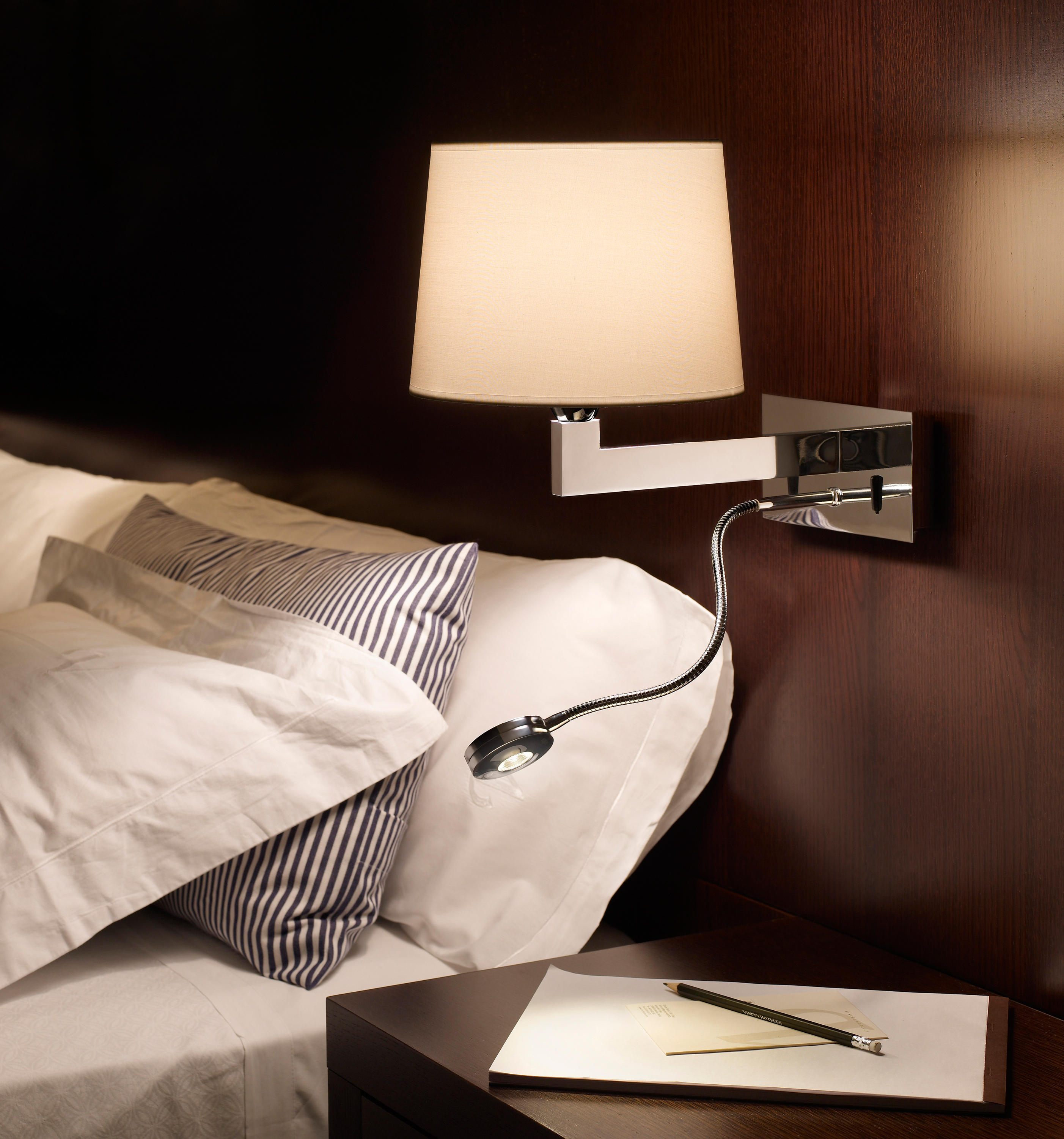 Lexa - FL (Solo Structure) Wall Lamp Vertical without lampshade E27 46w Nickel Satin