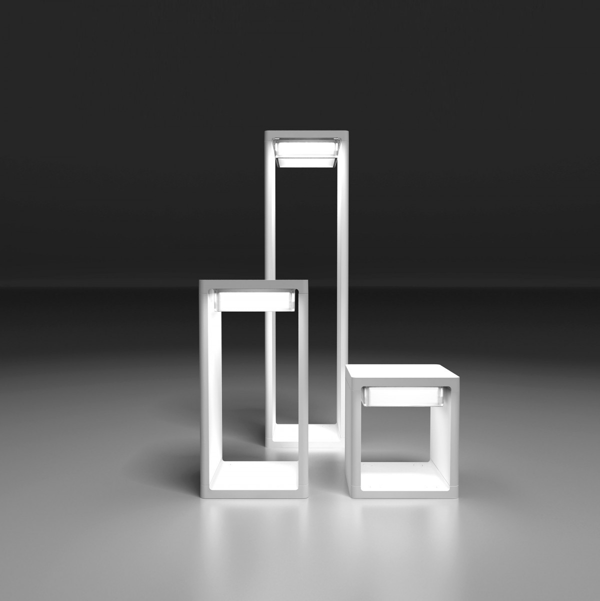 Frame M Faro Esterna 2G7 2x7w - bianco