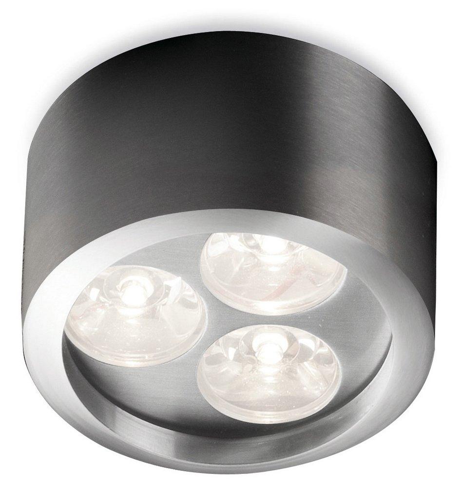 Alu Miniceiling lamp Round 3 LED Aluminium