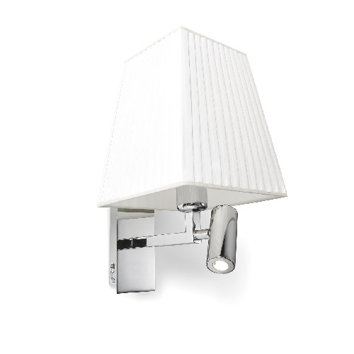 Basic Wall Lamp with white lampshade