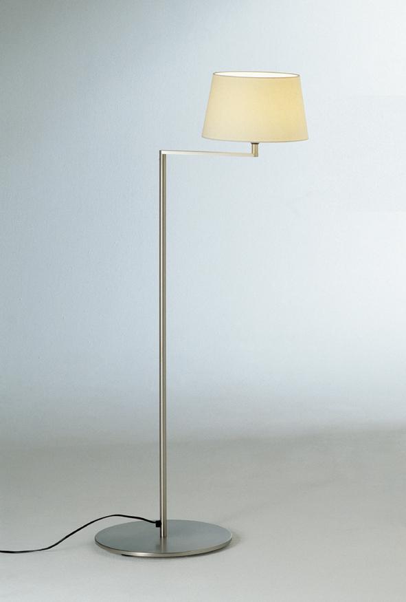 Americana (Struttura) lámpara di Lampada da terra E27 1x11w Nichel Satin