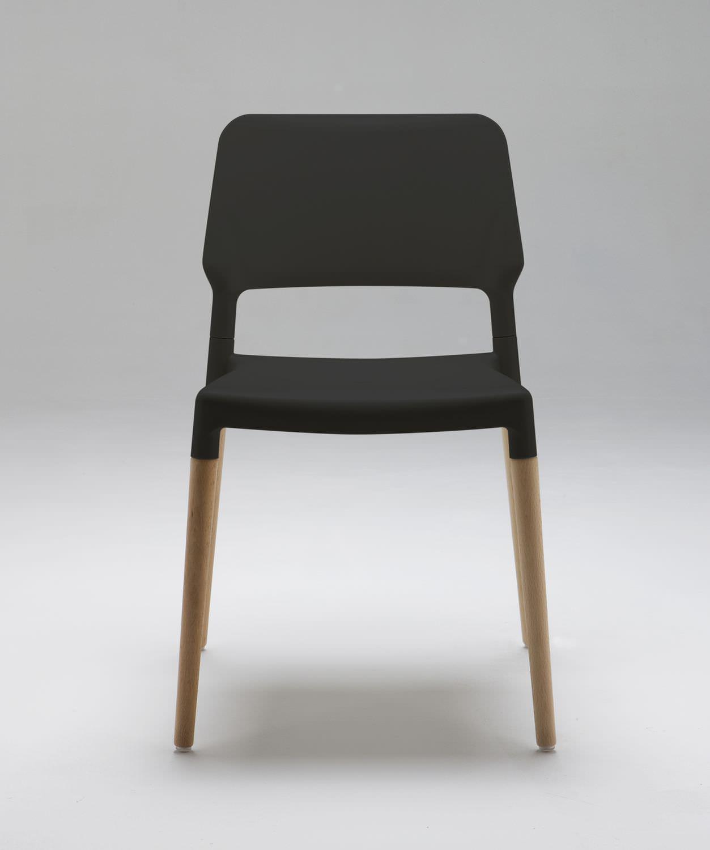 Belloch stuhl polipropileno und buchen (überdacht) Schwarz