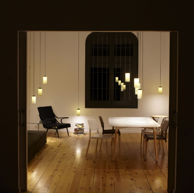 Cirio (Solo Structure) Lamp Pendant Lamp end 5 lights - Metálico Black