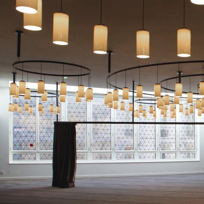 Cirio (Solo Estructura) Lámpara Colgante Circular 300cm 28 luces - Metálico negro