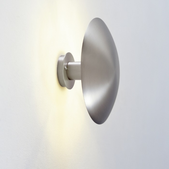 Disc Medium Ø24 cm LED Wall Lamp 9W - Structure and lampshade metálica níquel Satin