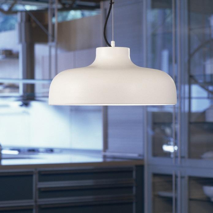 M 68 Lamp.Susp.Aluminio blanca