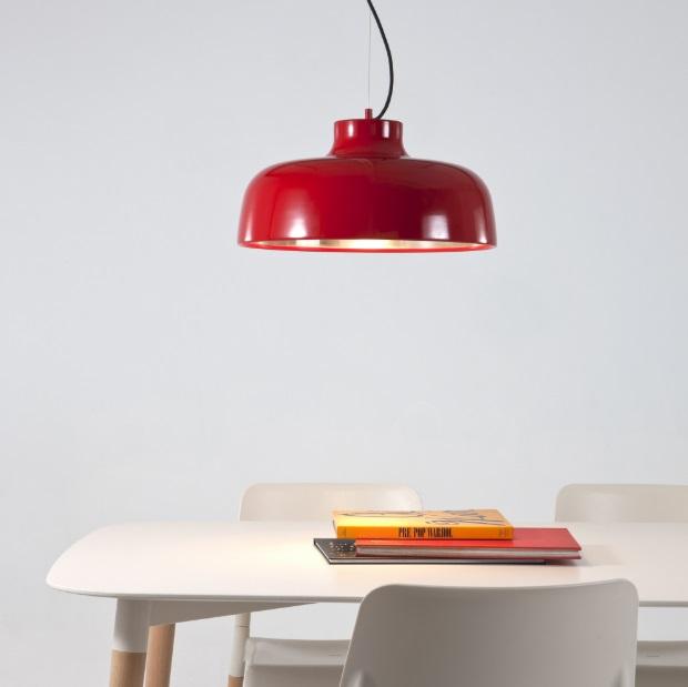 M68 Lamp Pendant Lamp LED 17W - Aluminium net Shiny