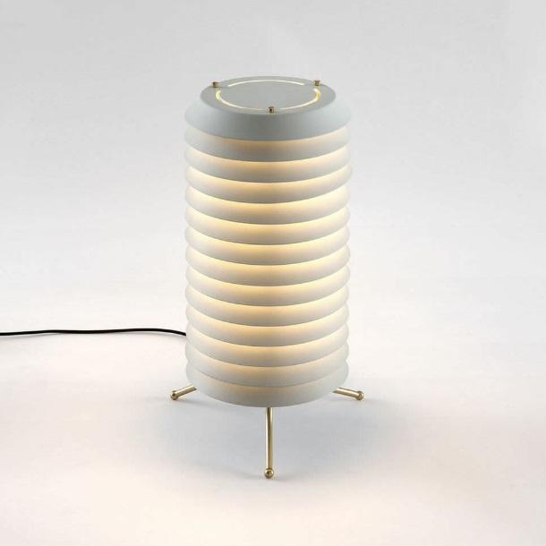 Maija 30 Lámpara de Pie LED 24W - pantalla metálica blanca