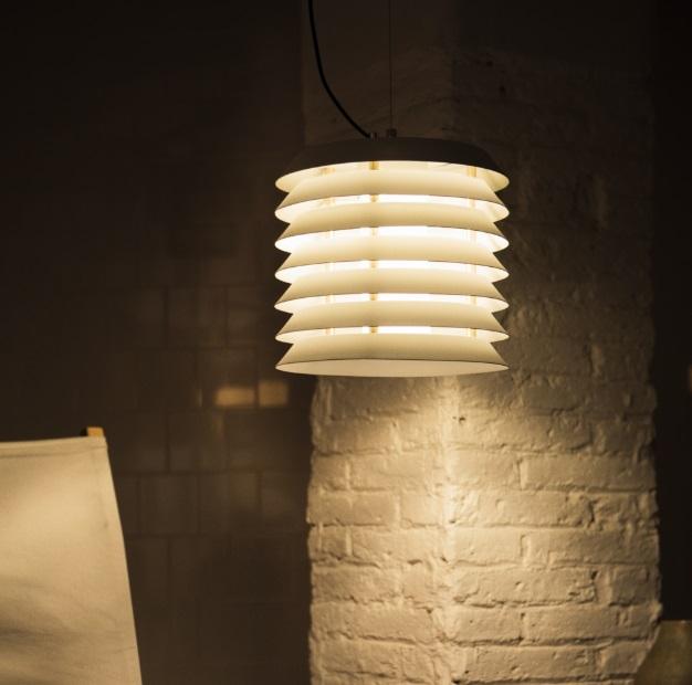 Maija 30 Lámpara Colgante LED 8,4W - pantalla metálica blanca