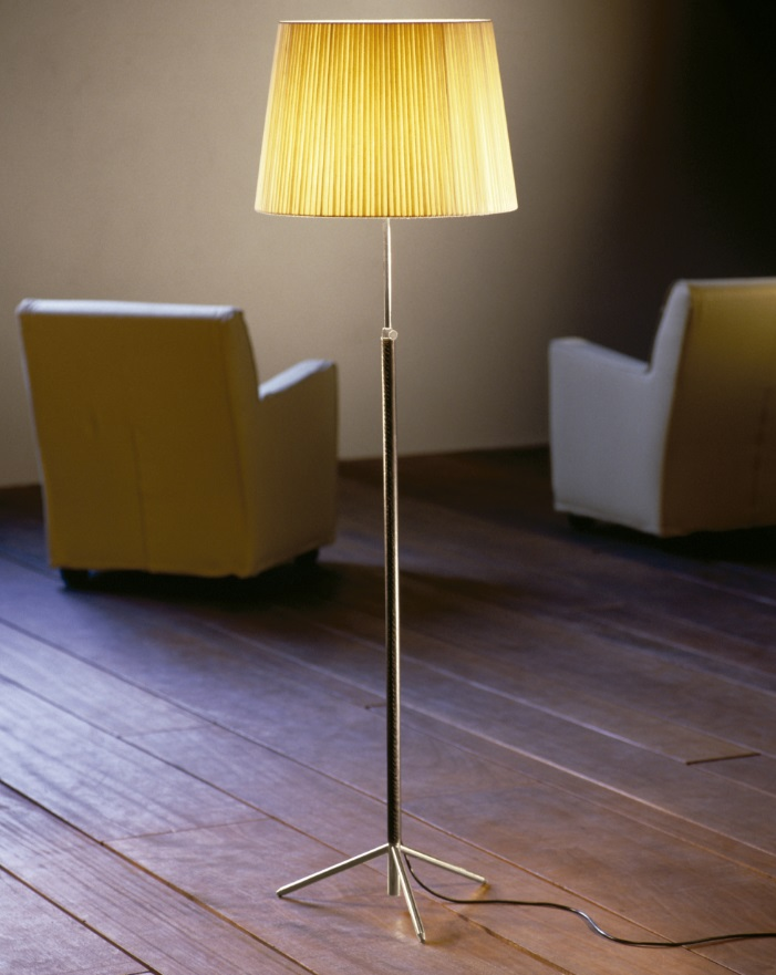Pie of Salon (Solo Structure) lamp of Floor Lamp telescópica E27 100W - chromed