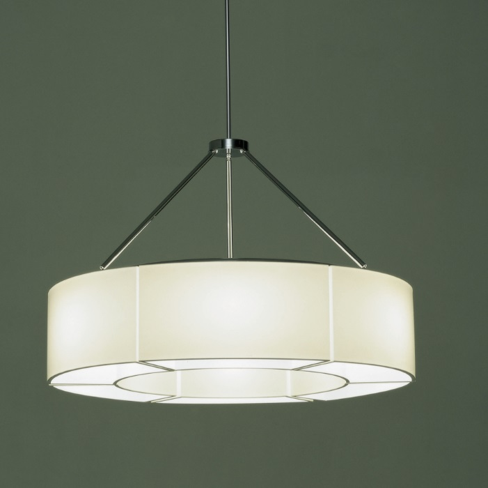 Sexta (Solo lampshade) composition for Pendant Lamp 6 lampshades - Polímero técnico translúcido white