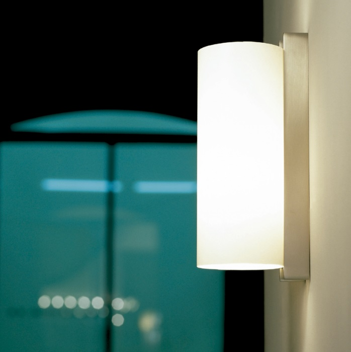TMM Metálico Wall Lamp E27 60W - Structure metálica níquel Satin lampshade methacrylate white
