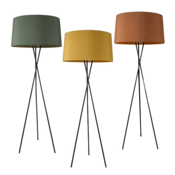 Tripode G5 (Accessory) lampshade for lámpara of Floor Lamp 62cm - Cinta mostaza raw colour