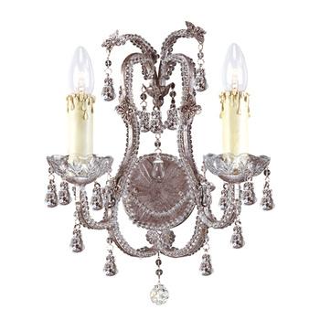 Champagne Rose Aplique Interior 2xE14 60W
