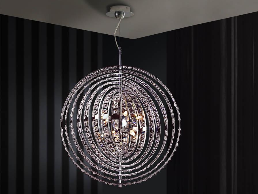 Rodas Pendant Lamp 10L Chrome