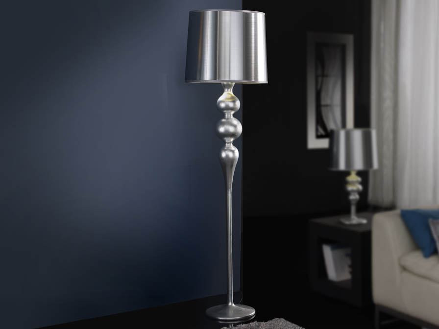 Lena lámpara of Floor Lamp 1L Silver