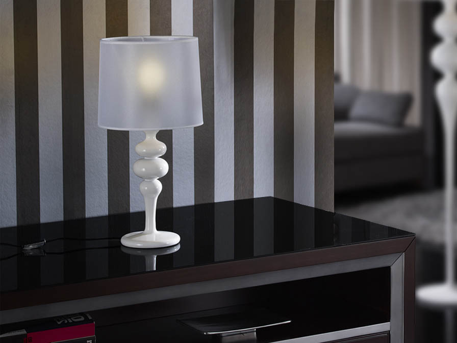 Lena Table Lamp Small 1L white